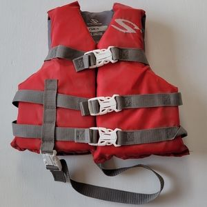 Red Stearns Child Water Ski Vest